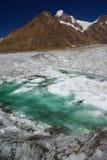 Kanjutsar range. Magnificent view of kanjutsat range from hispar glacier, karakoram Royalty Free Stock Photo