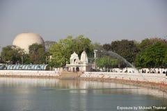 Kankariya湖前面;艾哈迈达巴德。 免版税库存图片