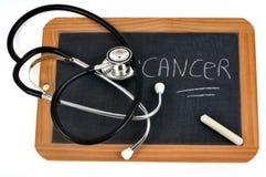 Kanker op een schoollei die wordt geschreven stock illustratie