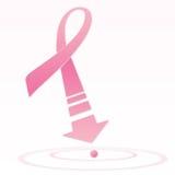 Kanker roze lint van de borst Stock Afbeeldingen