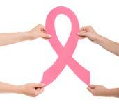 Kanker van de borst Financier de strijd, vind een behandelings postzegel Stock Fotografie