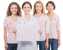 Kanker van de borst Financier de strijd, vind een behandelings postzegel Royalty-vrije Stock Afbeelding