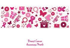 Kanker van de borst Financier de strijd, vind een behandelings postzegel Stock Afbeelding