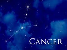 Kanker van de constellatie Stock Afbeeldingen