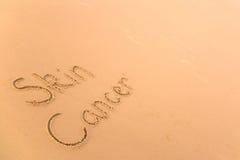 Kanker van de huid in zand Royalty-vrije Stock Foto's