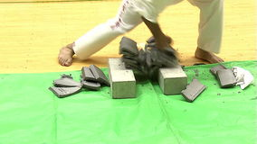 Kanku Karaté de Kyokushin de Dojo de Hombu Tokyo japan banque de vidéos