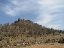 Kankwari Fort Alwar. View of Kankwari fort from the valley Royalty Free Stock Photography