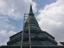 Kanlayanamit-Tempel in Bangkok Thailand Stockfoto