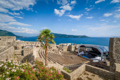 Kanli Kula fortress amphitheater and concert stage Royalty Free Stock Photography