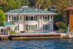 Kanlica伊斯坦布尔房子 免版税库存照片