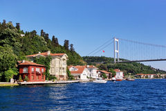 Kanlica coast on Bosporus Royalty Free Stock Photos
