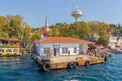 Kanlica-Hafen Istanbul Stockbild