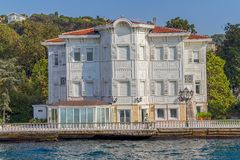 Kanlica Istanbul - view from the Bosphorus Stock Photo