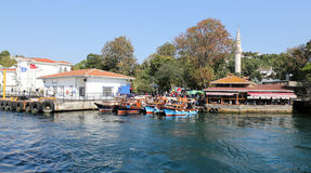 Kanlica område i Istanbul Royaltyfria Bilder