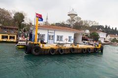 Kanlica promu port Zdjęcia Royalty Free