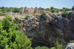 Kanlidivane forntida stad Arkivfoto
