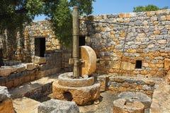Kanlidivane forntida stad gammalt mala, mersinen, Turkiet Arkivbild