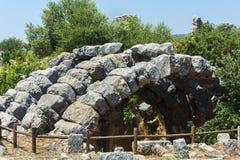 Kanlidivane forntida stad Mersin TURKIET Arkivfoto