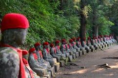 Kanmangafuchi облицовывает статуи в области Nikko, Японию Будды Стоковые Изображения