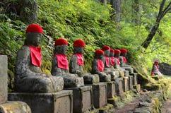 Kanmangafuchi stone Buddha statues in Nikko area, Japan Royalty Free Stock Photo