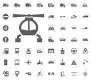 Kann als Firmenzeichen (Zeichen) verwendet werden Gesetzte Ikonen des Transportes und der Logistik Gesetzte Ikonen des Transporte Lizenzfreie Stockbilder
