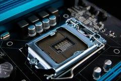 Kann als Hintergrund verwenden ElektronenrechenanlageGerätetechnik Digitaler Chip des Motherboards Moderner Technologiehintergrun lizenzfreie stockfotos