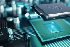Kann als Hintergrund verwenden Telefon mit Planetenerde und binärem Code Zentraler Computer-Prozessoren CPU-Konzept Digitaler Chi stock abbildung
