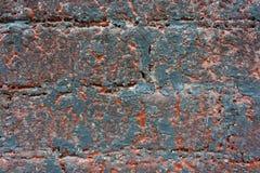 Kann als Postkarte verwendet werden Konkrete alte blaue orange Wand Stockfotos