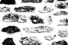 Kann als Postkarte verwendet werden Schmutz-städtische Vektor-Beschaffenheits-Schwarzweiss-Schablone Stockfoto