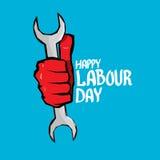 1 kann - Arbeitstag Vektorarbeitstagesplakat Stockbilder
