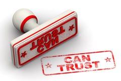 Kann Dichtung und Impressum vertrauen Stockbild