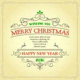 Kann eine Grußkarte zu den Freunde Weihnachtsfeiertagen schreiben Stockbilder
