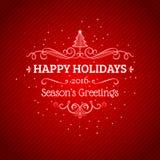 Kann eine Grußkarte zu den Freunde Weihnachtsfeiertagen schreiben Stockfotografie