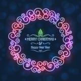 Kann eine Grußkarte zu den Freunde Weihnachtsfeiertagen schreiben Stockbild