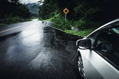Kann glatte Straße lizenzfreie stockfotografie