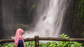 Kann ich Wasserfall sehen Stockbilder