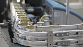 Kann Produktionsfabrik stock video