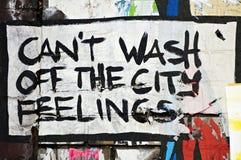 Kann ` t die Stadtgefühls-Straßenkunst Berlin weg waschen Lizenzfreie Stockfotografie