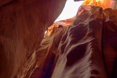 Kannaraville falls in slot canyon and river with flowing water kannaraville falls, Utah Stock Images