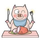 Kannibalisme - Varken - Glimlachtype royalty-vrije illustratie