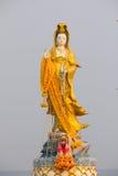 Kannon雕象在Bangsaen 库存图片