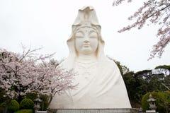 Kannon雕象 免版税库存照片