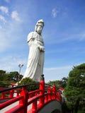 Kannonstandbeeld in Byakui Daikannon jigen-in tempel, Takasaki Royalty-vrije Stock Fotografie