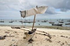 Kano op het strand Royalty-vrije Stock Foto's