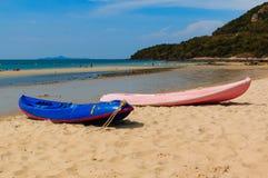 Kano's op het strand Royalty-vrije Stock Foto