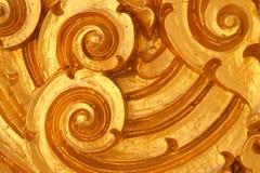 Kanok stucco coat with gold V01 Royalty Free Stock Images