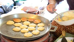 Kanom Babin Thai dessert style pancake made from coconut, stock video footage