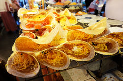 Kanom Buang: Panqueca friável tailandesa Fotos de Stock Royalty Free