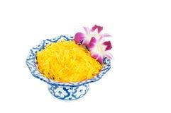 Kanom Foythong. A traditional Thai dessert royalty free stock photography