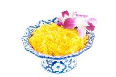 Kanom Foythong. A traditional Thai dessert stock photos